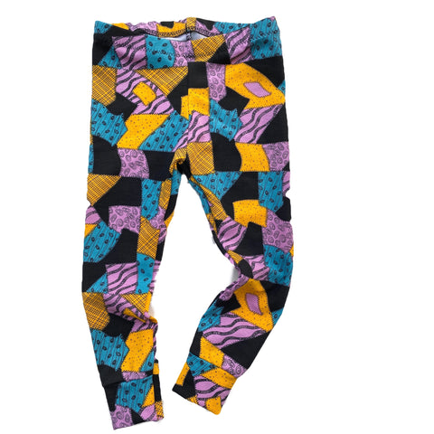 Nightmare Before Christmas Sally Patchwork Leggings Joggers  Pants
