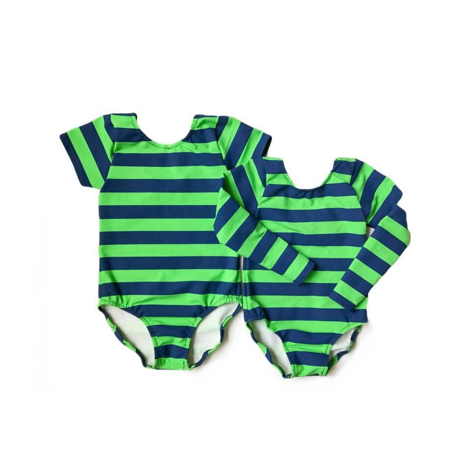 Seahawks Stripe Leotard Leo Bodysuit