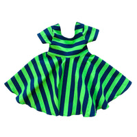 Seahawks Stripe Twirl Dress