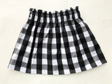 Holiday Collection Black and White Gingham Buffalo Plaid Skirt