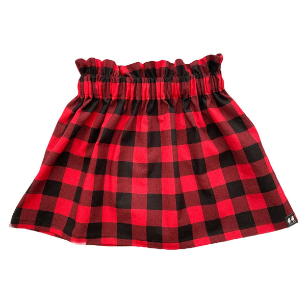 Red and Black Buffalo Plaid Skirt