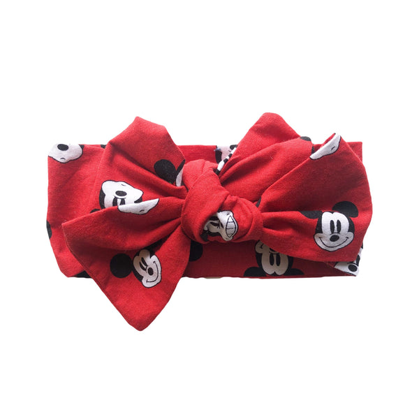 Disney Mickey Mouse Headwrap Hair Bow Red
