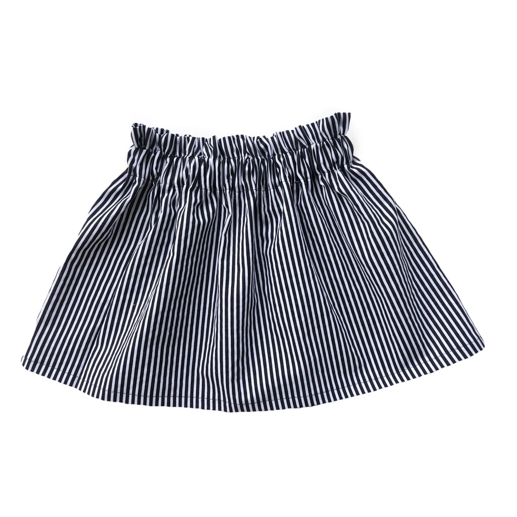 High Waist Black and White Pinstripe Skirt