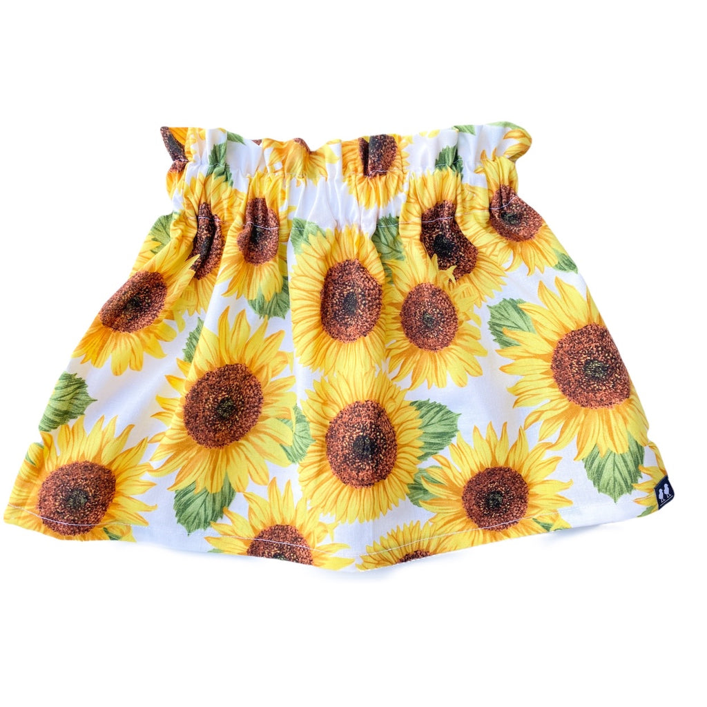 Fall Collection High Waist Sunflower Print Skirt