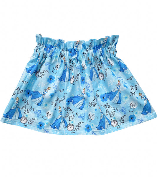Cinderella Carriage Print Disney Princess High Waist Skirt