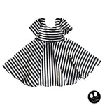 Black and White Stripe Twirl Dress- PREORDER