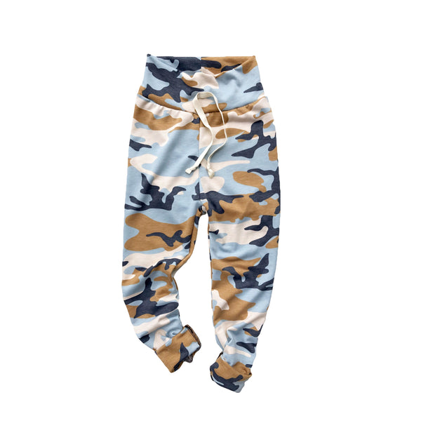 Blue Camo Leggings Joggers Comfy Pants PREORDER