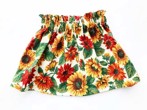 Fall Collection High Waist Sunflower Skirt
