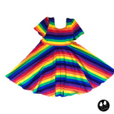 Rainbow Stripe Twirl Dress- PREORDER