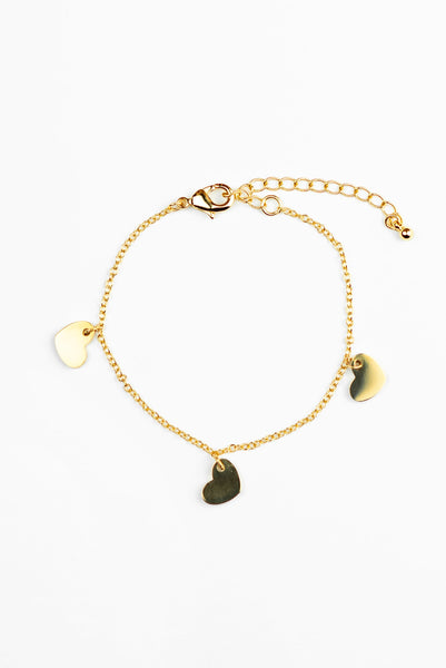 HEARTS ON A CHAIN BRACELET