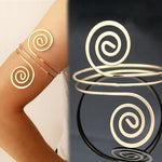 Adjustable Silver Gold Arm Cuff Bangle