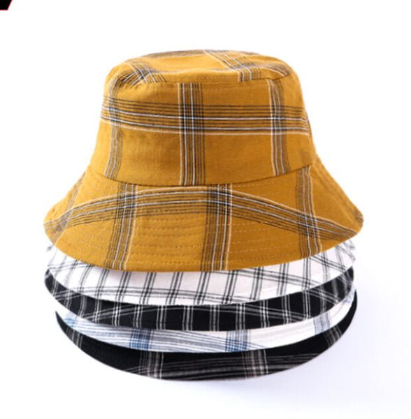 Plaid Print Bucket Hat