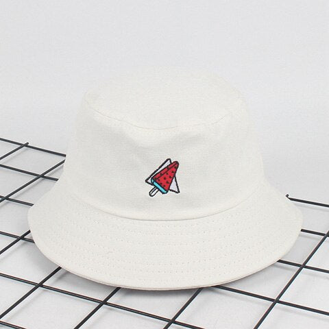 Watermelon Embroidery Bucket Hat