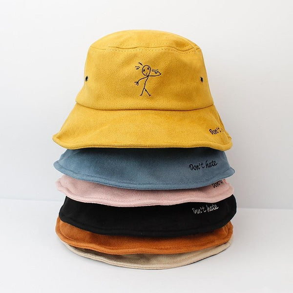 Cotton Embroidered Bucket Hat