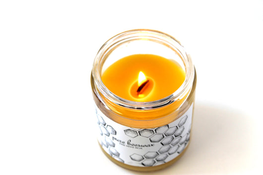 Beeswax Candle Jar