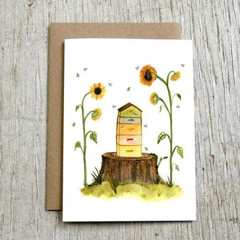 Beehive Greeting Card