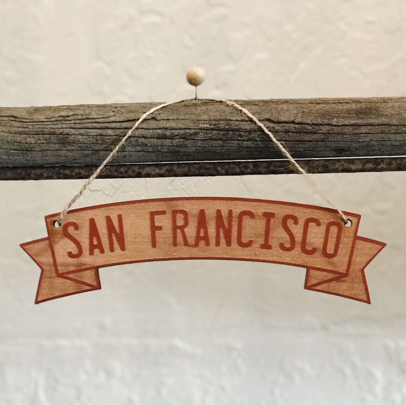 Wooden Ornament - San Francisco