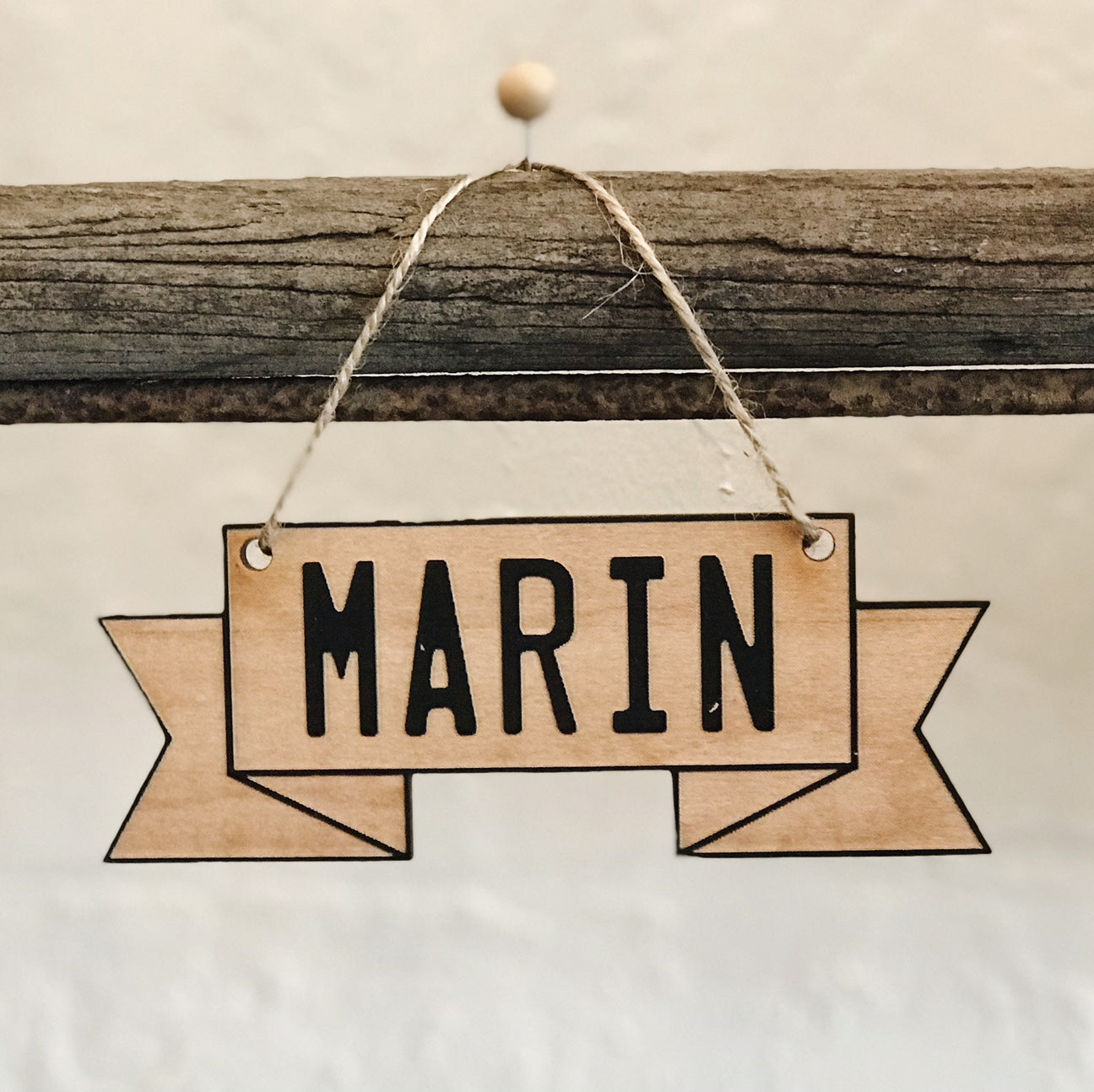 Wooden Ornament - Marin