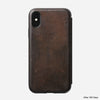 Rugged Folio - iPhone XS - Rustic Brown