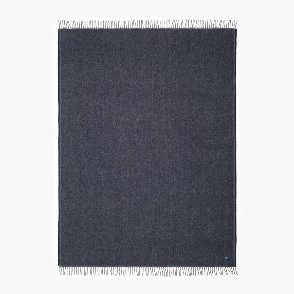 Ashby Twill Wool Throw - Ink Blue Twill