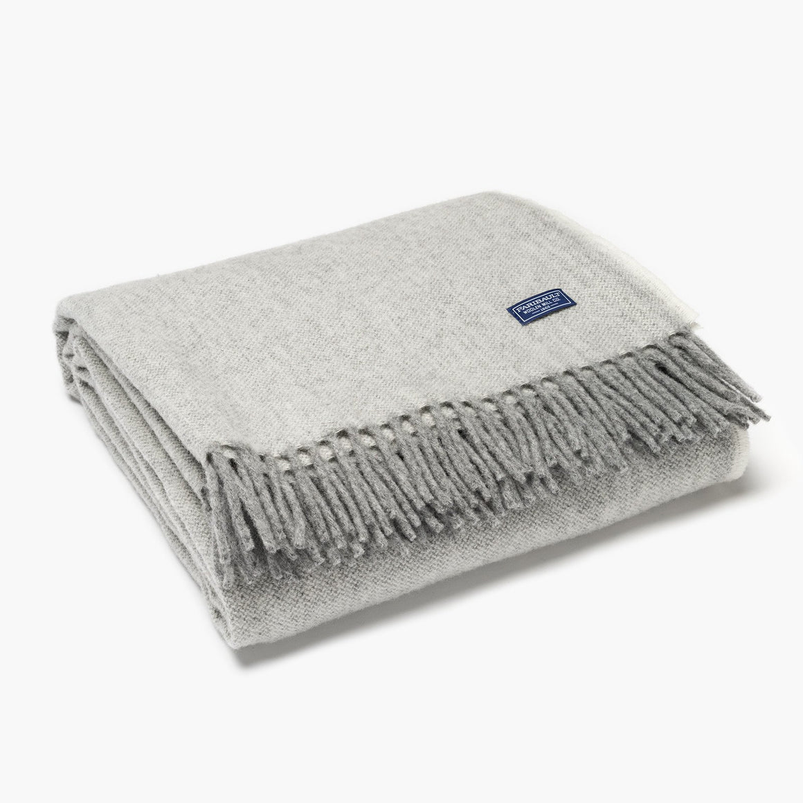 Ashby Twill Wool Throw - Natural Twill