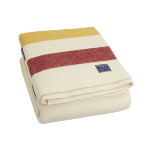 Revival Stripe Wool Throw - Bone White