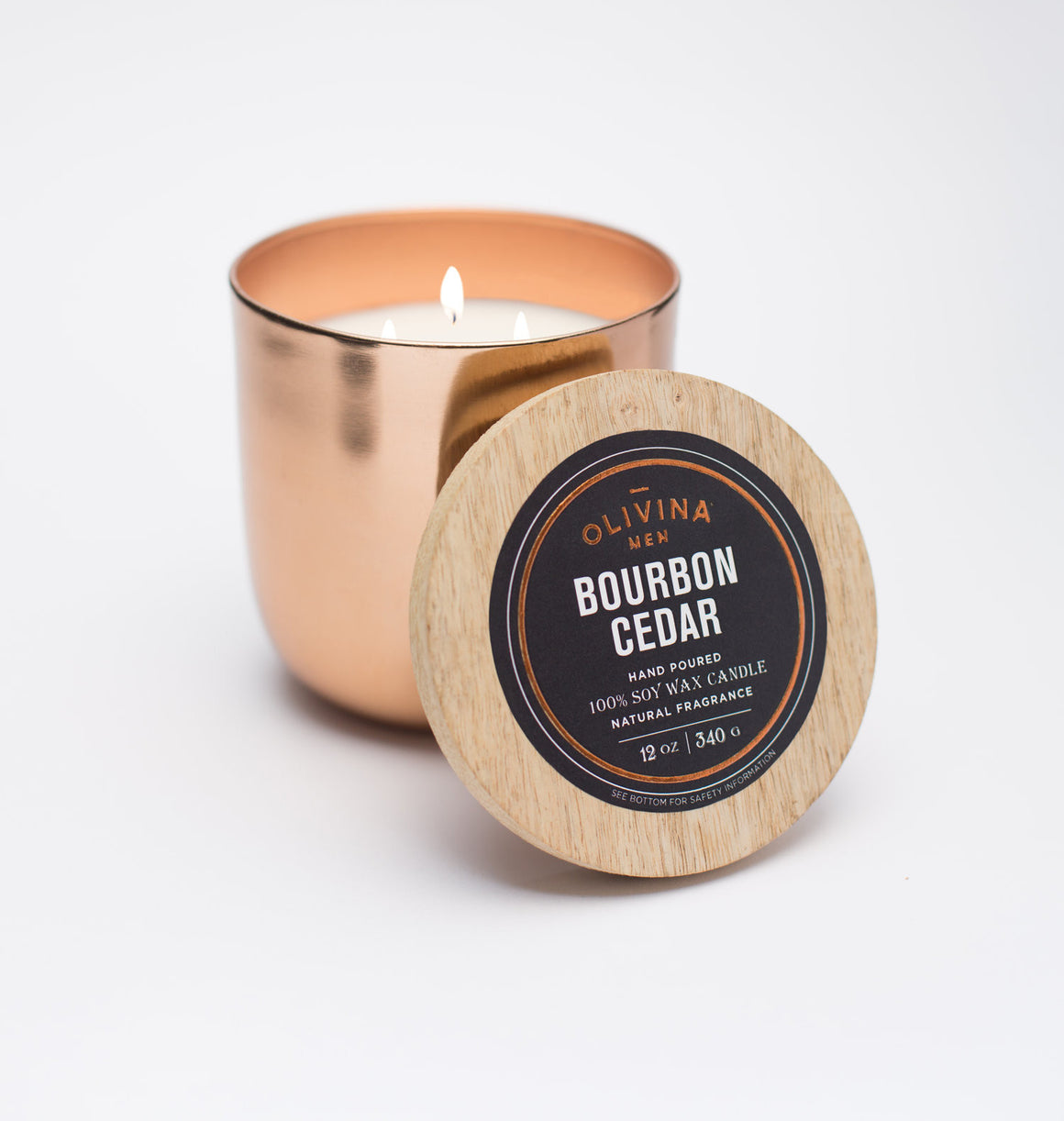Alchemy Copper Candle - Bourbon Cedar - 12 Oz