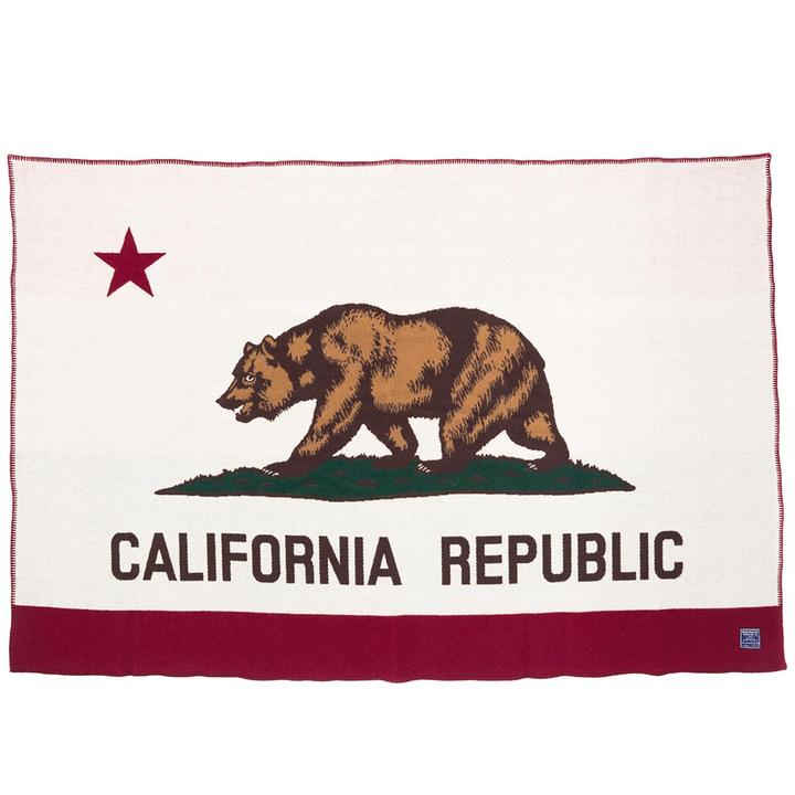 California Flag Wool Throw