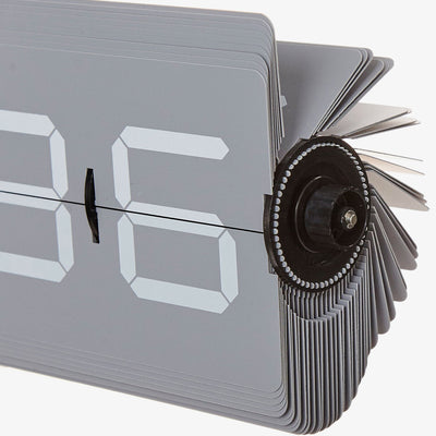 Flipping Out Grey Flip Clock