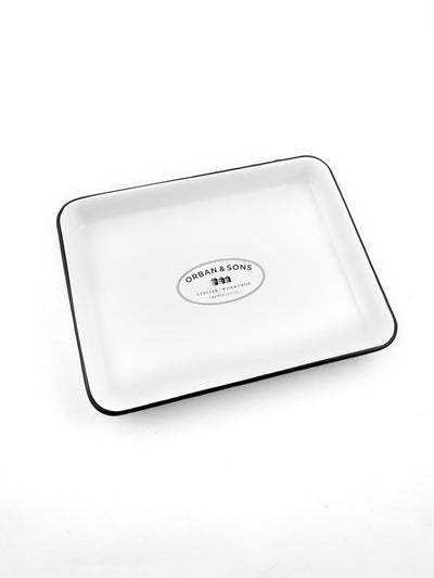 SMALL ENAMEL BAKING DISH