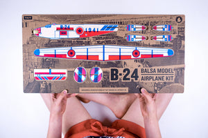 B-24 Balsa Model Airplane Kit