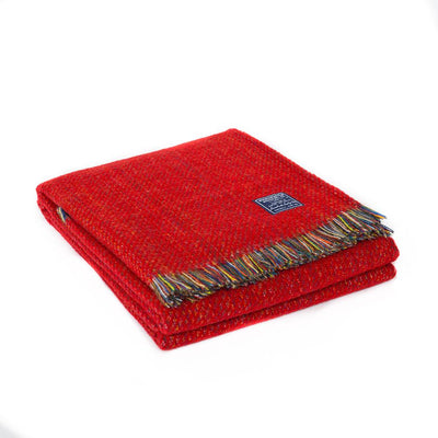 Northern Lights Wool Throw - Red