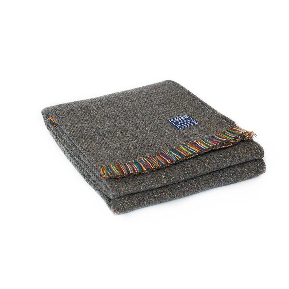 Northern Lights Wool Throw - Charcoal