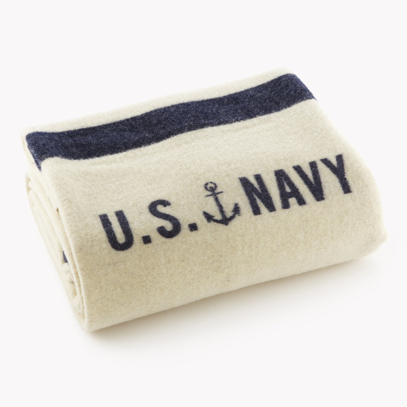 Foot Soldier Military Wool Blanket - US Navy Jacquard