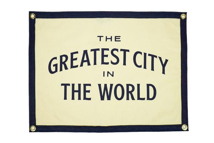 GREATEST CITY IN THE WORLD CAMP FLAG