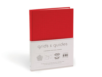 Grids & Guides: A Notebook for Visual Thinkers - Red