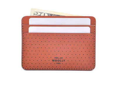 Perf Brown Half Wallet