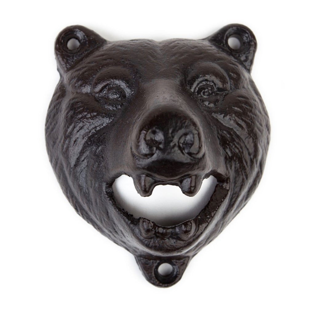 Bear Bottle Opener Wall-Mount