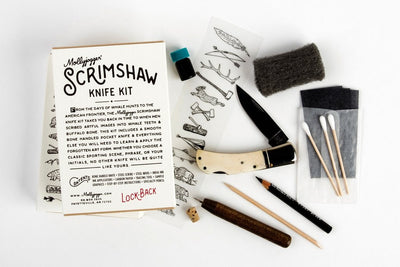 Scrimshaw Kit + Lockback Knife