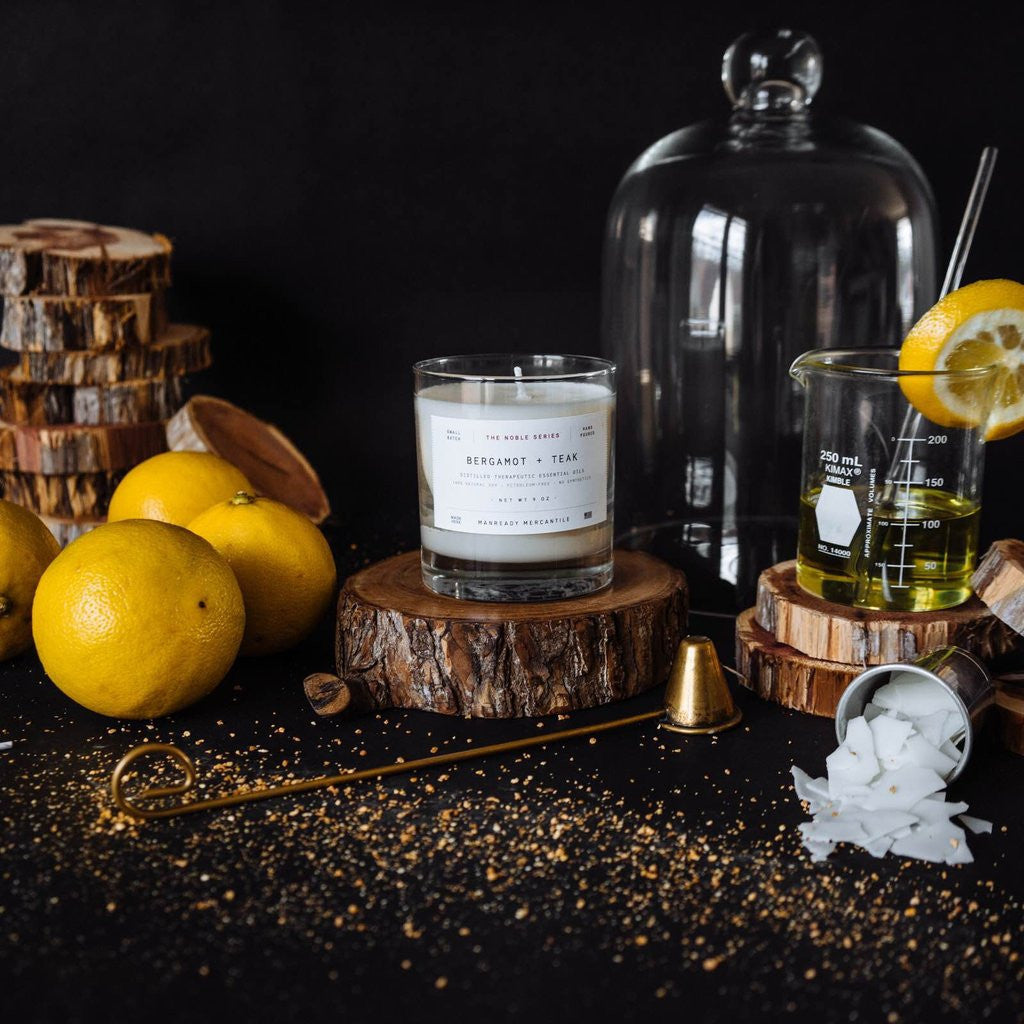 The Noble Series Soy Candle - Bergamot + Teak