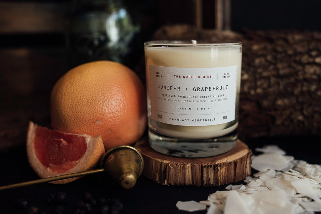 The Noble Series Soy Candle - Juniper + Grapefruit