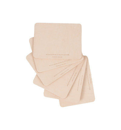 Leather Coasters - Set of 6