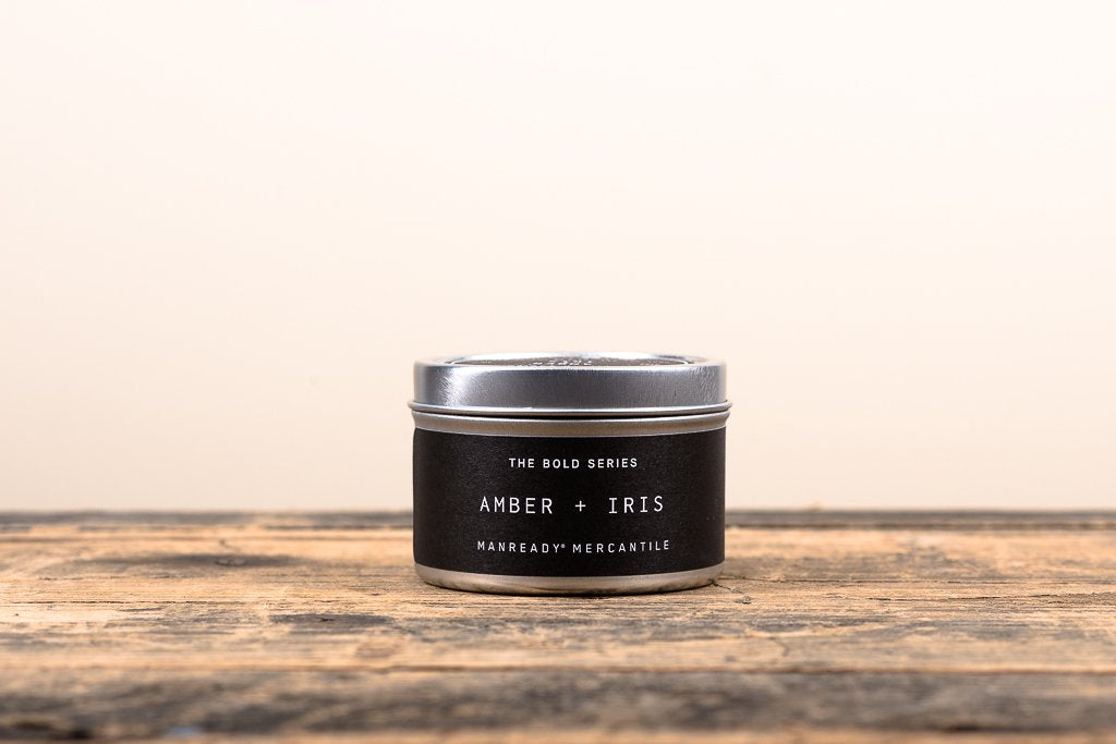 The Bold Series Soy Candle - Travel Size - Amber + Iris