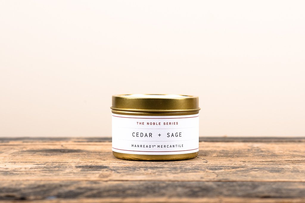 The Noble Series Soy Candle - Travel Size - Cedar + Sage