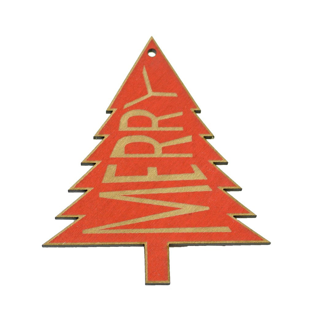 Wooden Ornament - Merry Tree