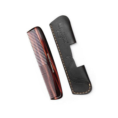 LEATHER COMB SLEEVE WITH MUSTACHE-BEARD COMB
