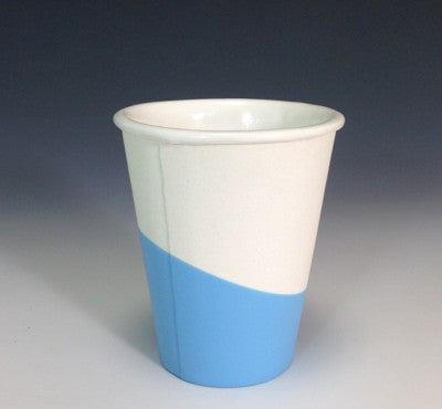 Ceramic + Rubber Paper Cup - Sky Blue