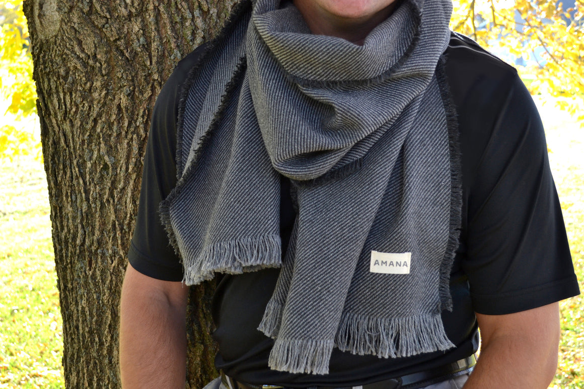Twill Scarf - Charcoal