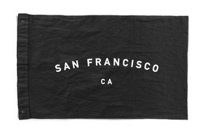 Black Canvas Flag - San Francisco, CA