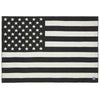 American Flag Wool Throw - Black / Heather Gray